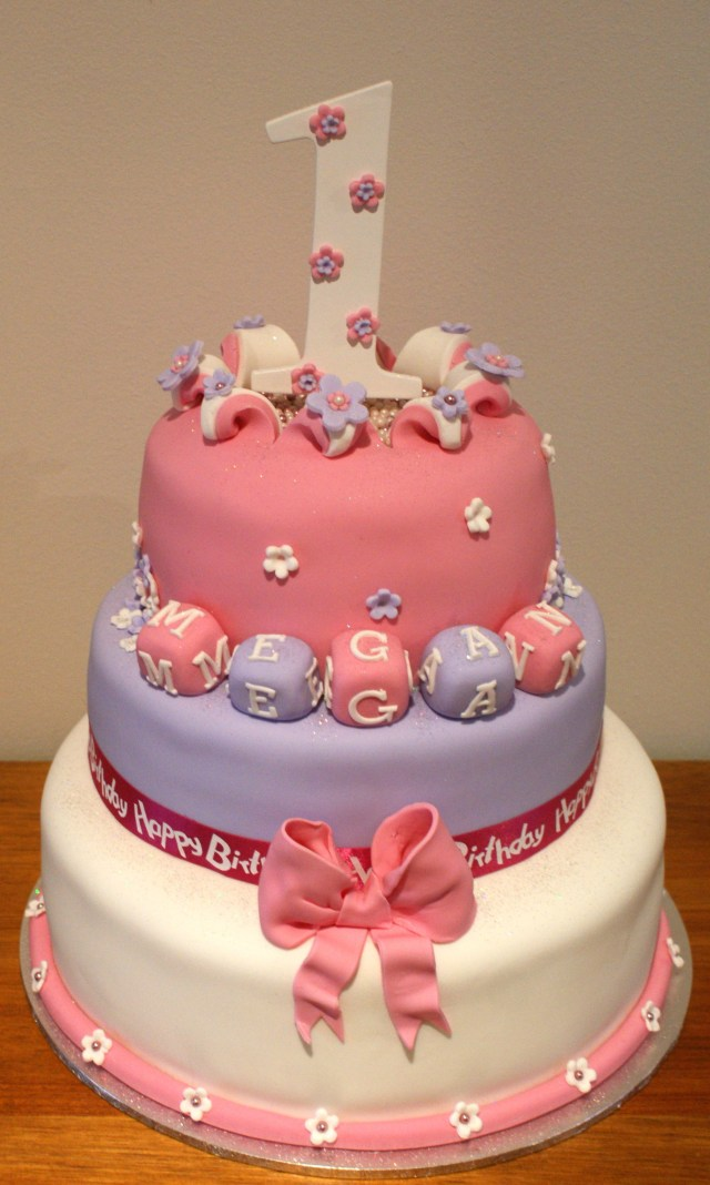 Birthday Cakes For Little Girls Number 1 Birthday Cake Girls 3 Tier Birthday Cake For A Little