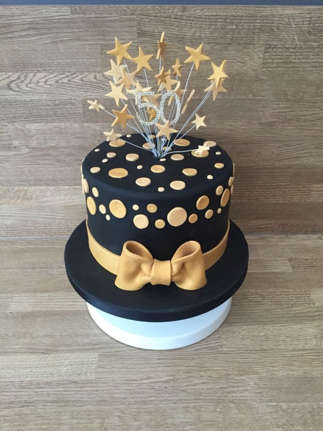 Black Birthday Cake Black And Gold Cake Cakes Pinterest Cake Birthday Cake Y 60th
