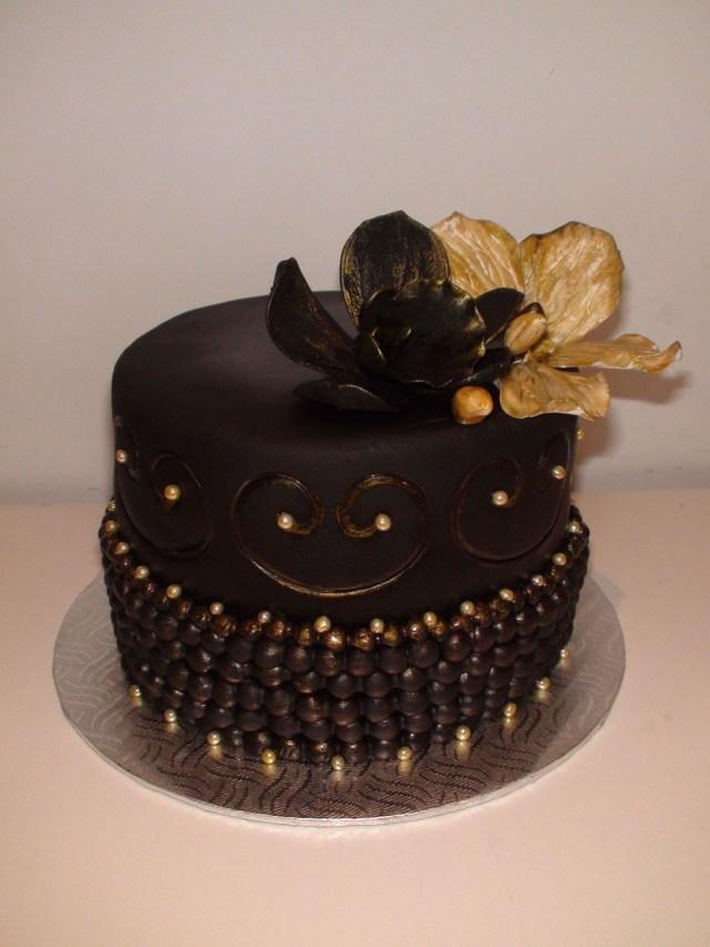 Black Birthday Cake Black Gold Birthday Cake Cakecentral