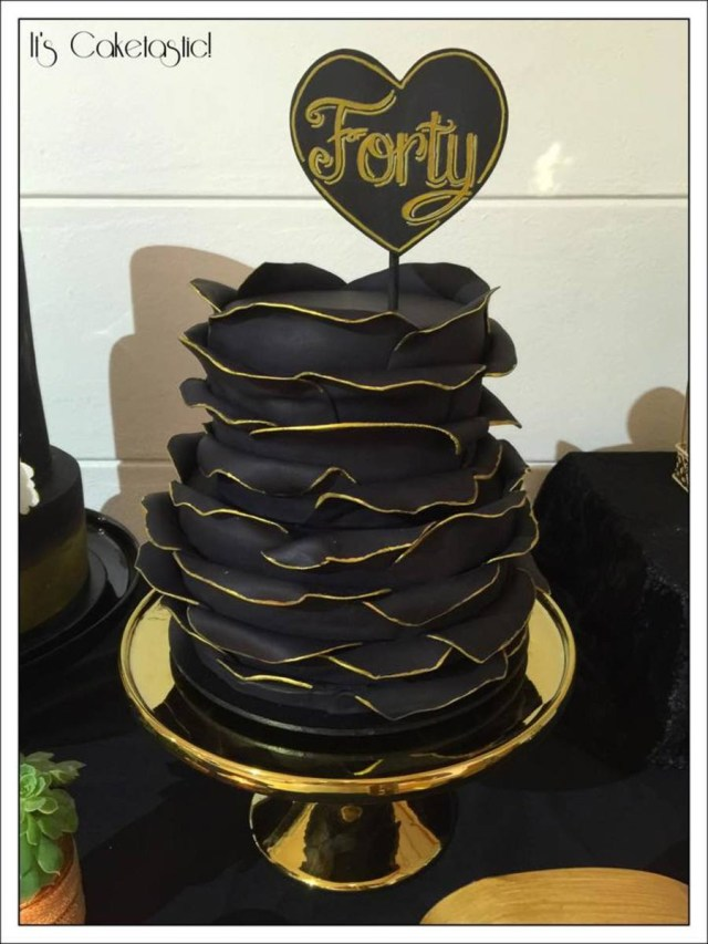 Black Birthday Cake Gold And Black Birthday Cake Cakecentral