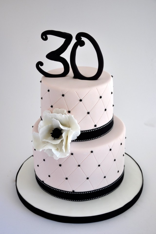 Black Birthday Cake Rozannes Cakes Light Pink And Black Birthday Cake