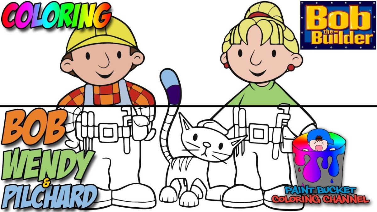 Bob The Builder Coloring Pages How To Color Bob Wendy And