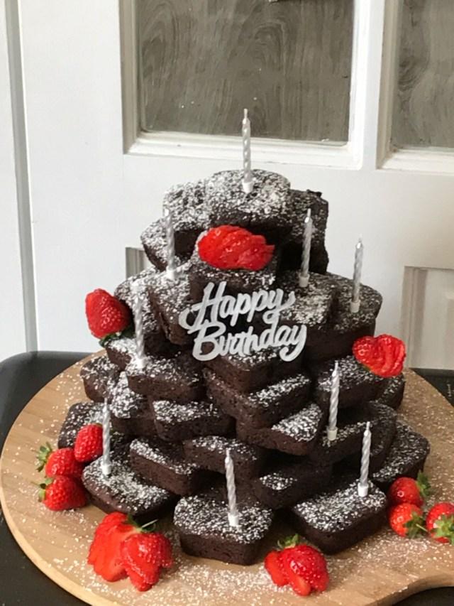 Brownie Birthday Cake Brownie Birthday Cake Birthday Cake Pinterest Birthday Cake