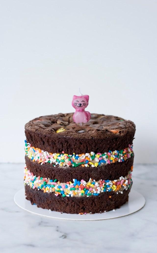 Brownie Birthday Cake Mm Chocolate Brownie Birthday Cake Treets