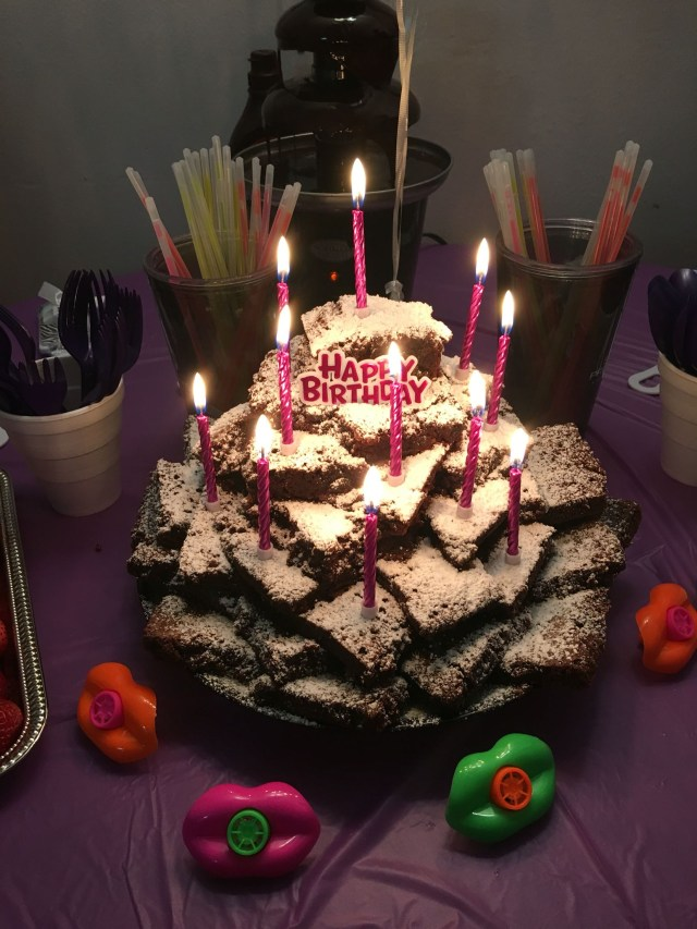 Brownie Birthday Cake Nikaya Wanted A Brownie Tower For Her 11th Birthday My Personal