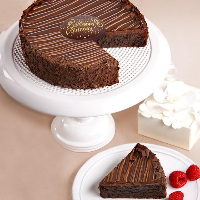 Brownie Birthday Cake Triple Chocolate Enrobed Brownie Happy Birthday Cake Care Packages