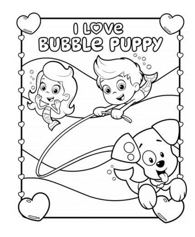 Bubble Coloring Pages Bubble Guppies Coloring Pages I Love Bubble Guppies Coloring Pages