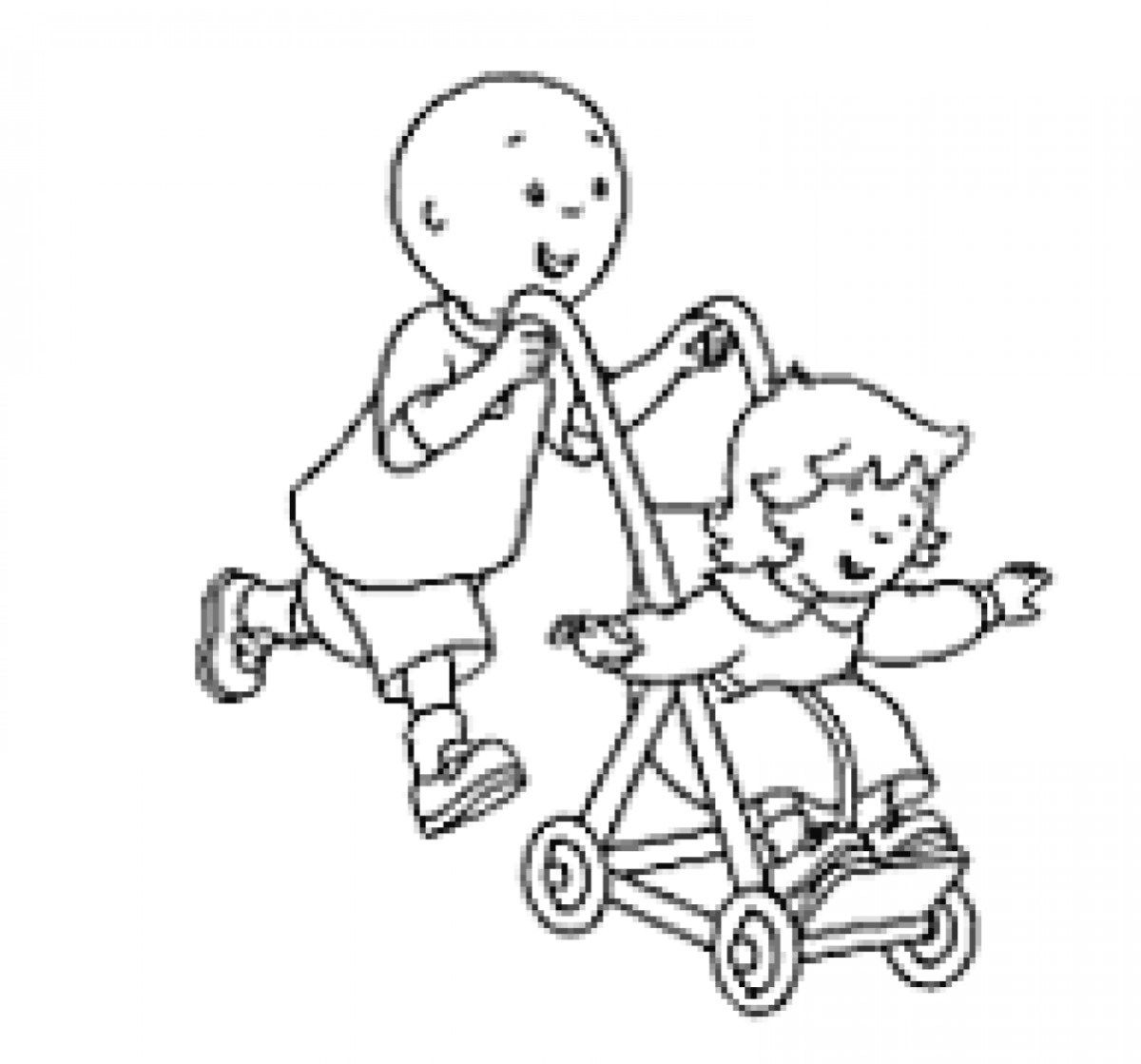 Caillou Coloring Pages Caillou Coloring Pages Pdf And Rosie ...