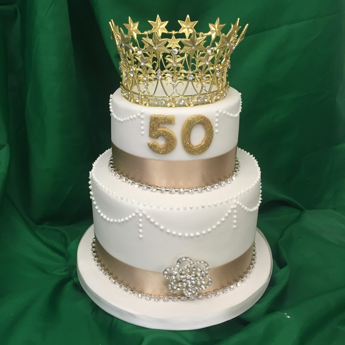 Phenomenal Cakes For 50Th Birthday 2 Tier 50Th Birthday Cake M Rays Bakery Funny Birthday Cards Online Alyptdamsfinfo