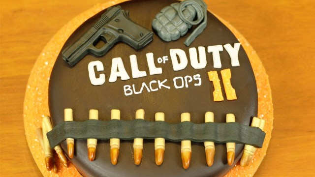 Call Of Duty Birthday Cake Black Ops 2 Cake Nerdy Nummies Youtube