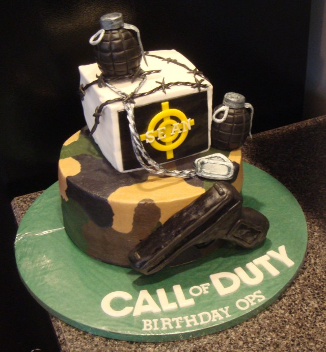 Call Of Duty Birthday Cake Call Of Duty Birthday Cake My First Birthday Cake Made For Someone