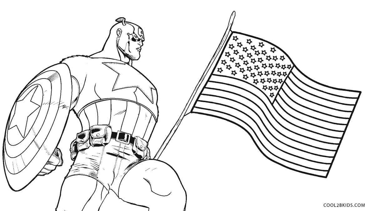 - Captain America Coloring Page Free Printable Captain America