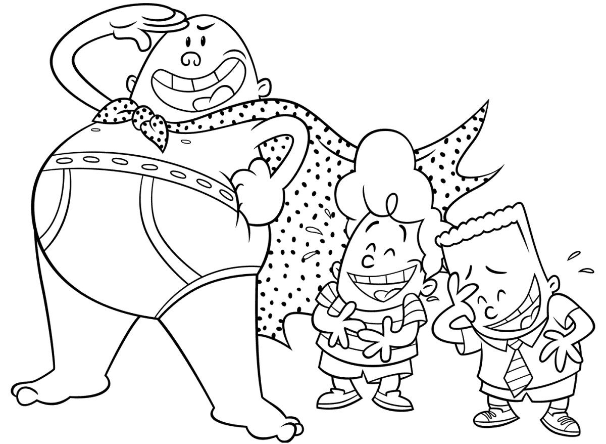 Captain Underpants Coloring Pages Captain Underpants Coloring Pages Best Coloring Pages For Kids