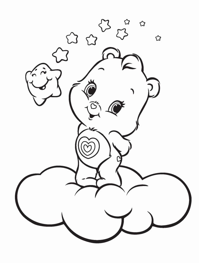 Care Bear Coloring Pages Christmas Care Bear Coloring Pages Halloween Holidays Wizard