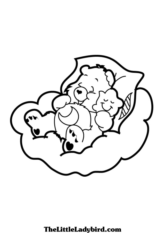 Care Bear Coloring Pages Free Care Bears Sweet Dreams Bear Coloring Page Thelittleladybird