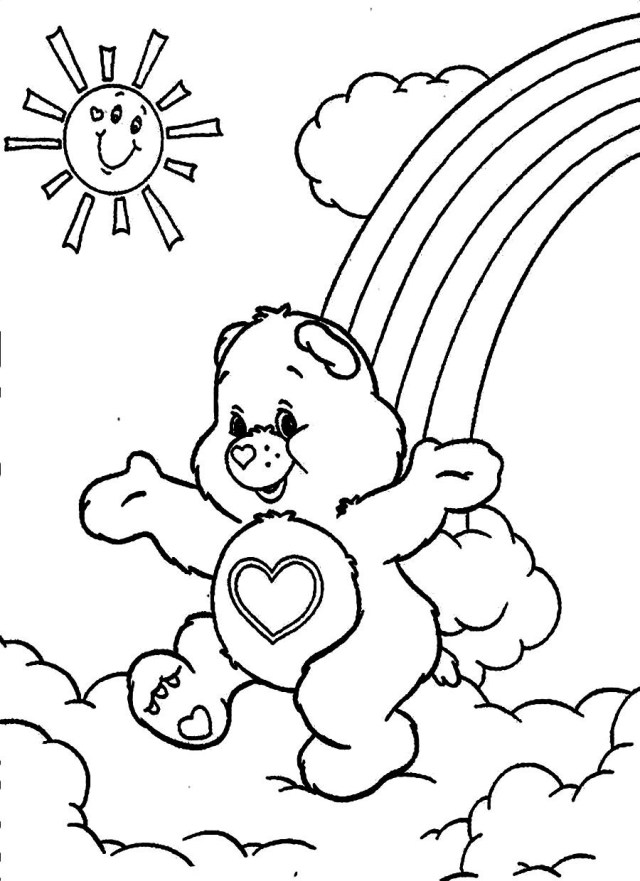Care Bear Coloring Pages Free Printable Care Bear Coloring Pages For Kids