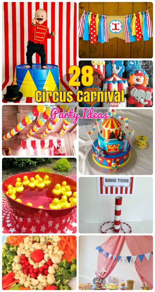 Carnival Birthday Cake 28 Circus Carnival Themed Birthday Party Ideas For Kids