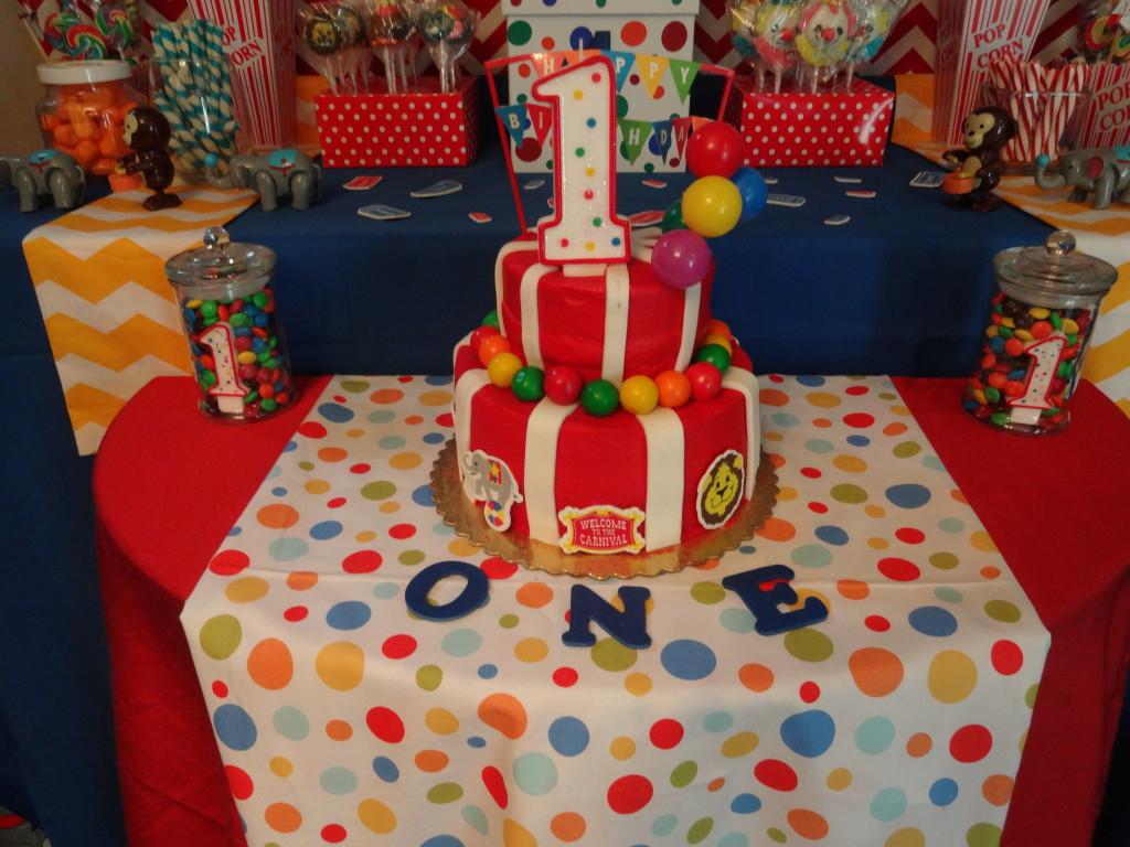 Carnival Birthday Cake Carnival Birthday Party Project Nursery