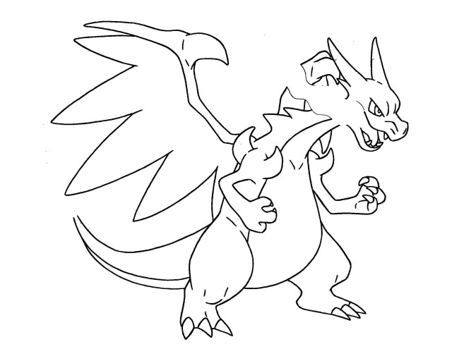 Brilliant Picture Of Charizard Coloring Pages Birijus Com