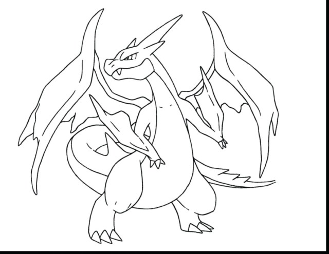 Charizard Coloring Pages Pokemon Mega Charizard Coloring Pages Best Drawing Page Ex And For