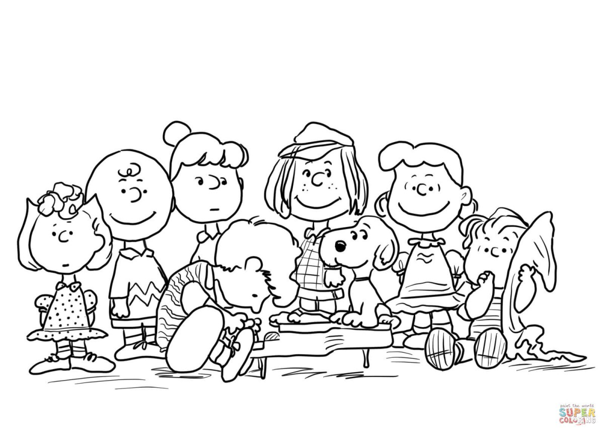 Charlie Brown Christmas Coloring Pages Good Charlie Brown