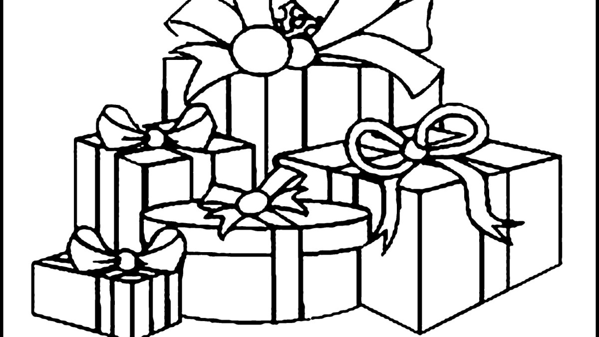 Christmas Present Coloring Pages Christmas Present Coloring Pages For Kids At Getdrawings Free Birijus Com