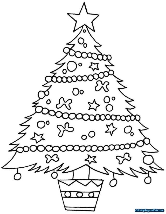 Christmas Tree Coloring Page Free Christmas Tree Coloring Page Free Printable Coloring Pages Awesome
