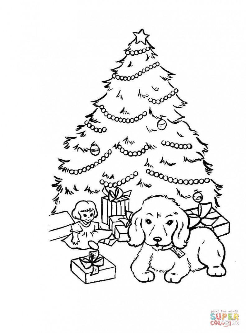 Christmas Tree Coloring Page Free Christmas Tree Coloring