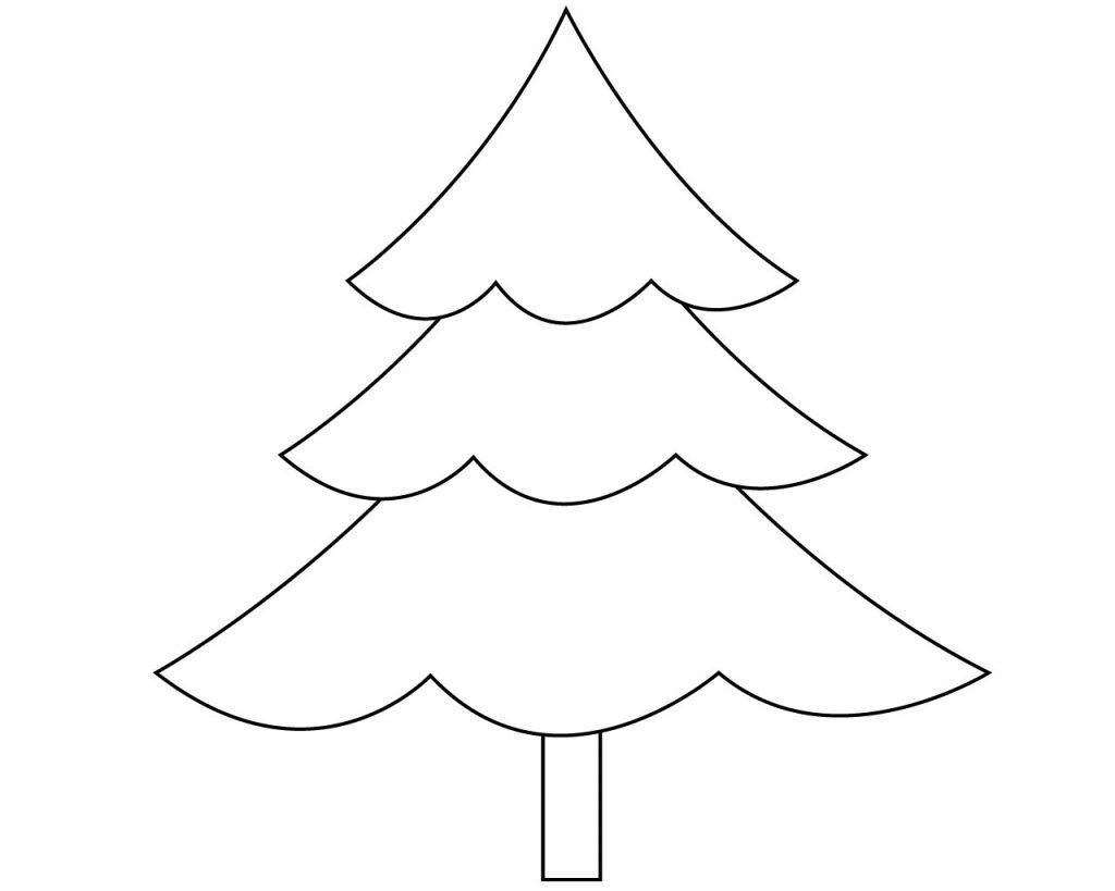 - Christmas Tree Coloring Page Free Easy Christmas Tree Coloring