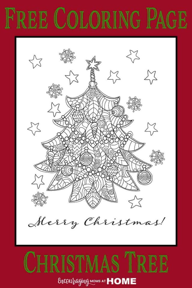 Christmas Tree Coloring Page Free Free Christmas Tree Coloring Page