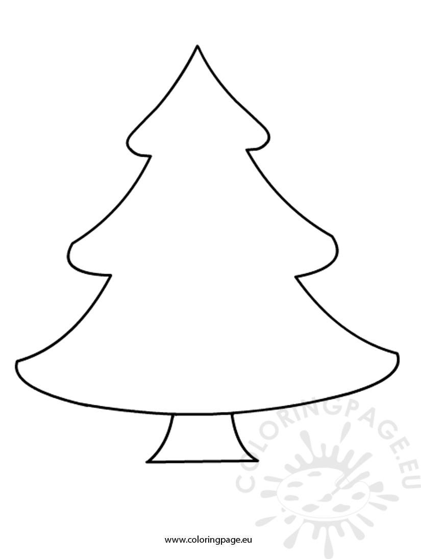Christmas Tree Coloring Page Free Free Christmas Tree Template