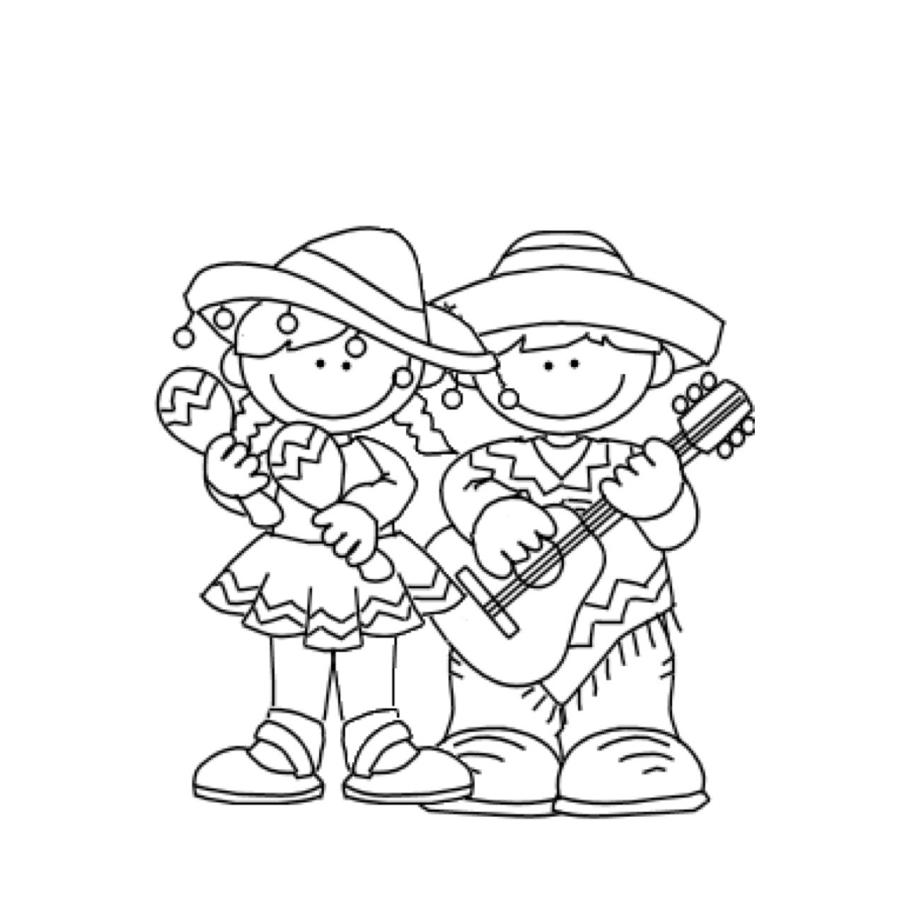 Cinco de Mayo Coloring Pages - English ESL Worksheets for distance ... | 1287x1275