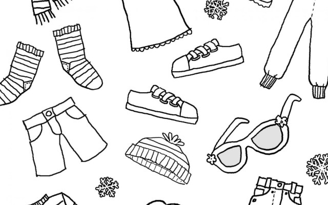 Clothes Coloring Pages Clothingoring Pages Printables Free Printable Winter Clothes Save
