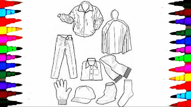 Clothes Coloring Pages Coloring Pages Boys Clothes Jackets And Hat Coloring Book Videos For