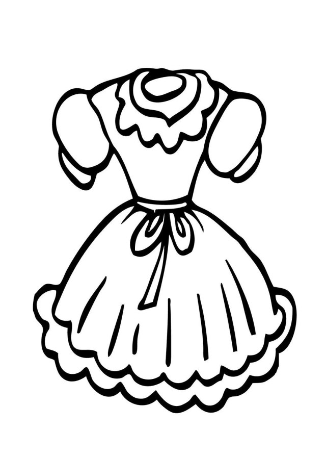 Clothes Coloring Pages Doll Clothes Coloring Pages Ststephenuab Pinterest Get Coloring Page