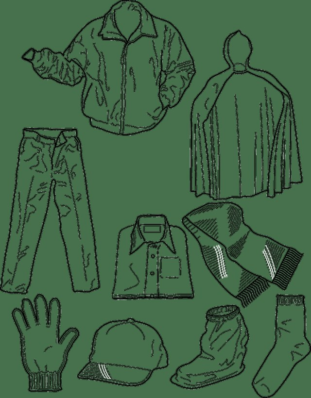 Clothes Coloring Pages Spring Clothes Coloring Pages