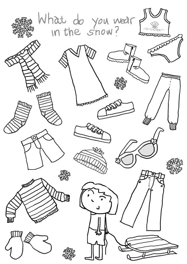 Clothes Coloring Pages Winter Clothes Coloring Pages For Preschoolers Unique What To Wear