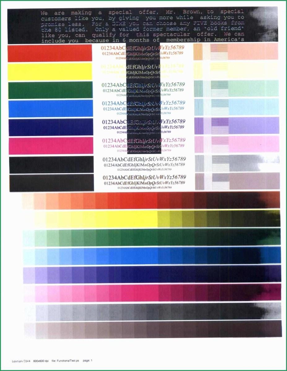 Color Printer Test Page – Pusat Hobi