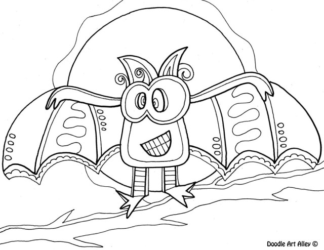 Coloring Pages For Halloween Halloween Coloring Pages Doodle Art Alley