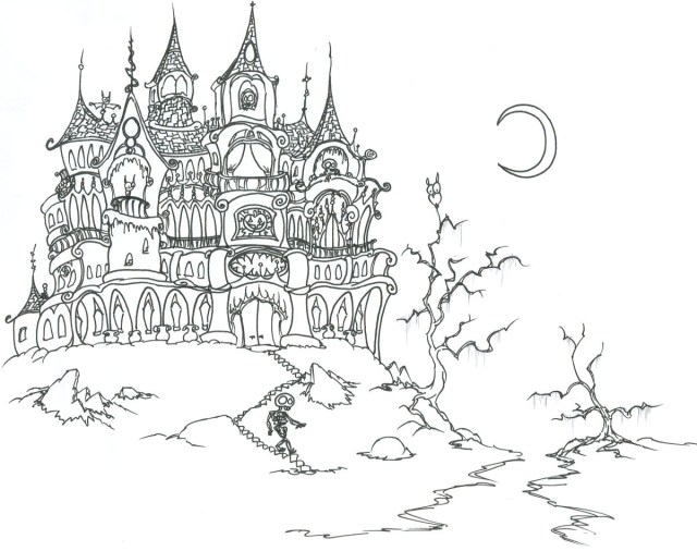 Coloring Pages For Halloween Halloween Coloring Sheets On Adult Coloring Pages Halloween