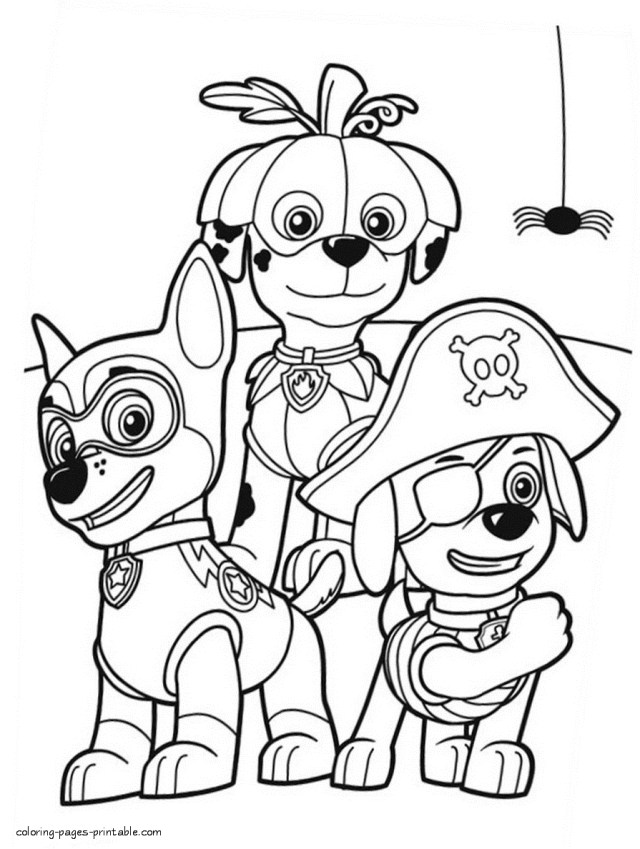 Coloring Pages For Halloween Paw Patrol Skye Coloring Pages Halloween Chase Paw Patrol Drawing 31