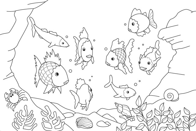 Coloring Pages For Kids Free Printable Fish Coloring Pages For Kids