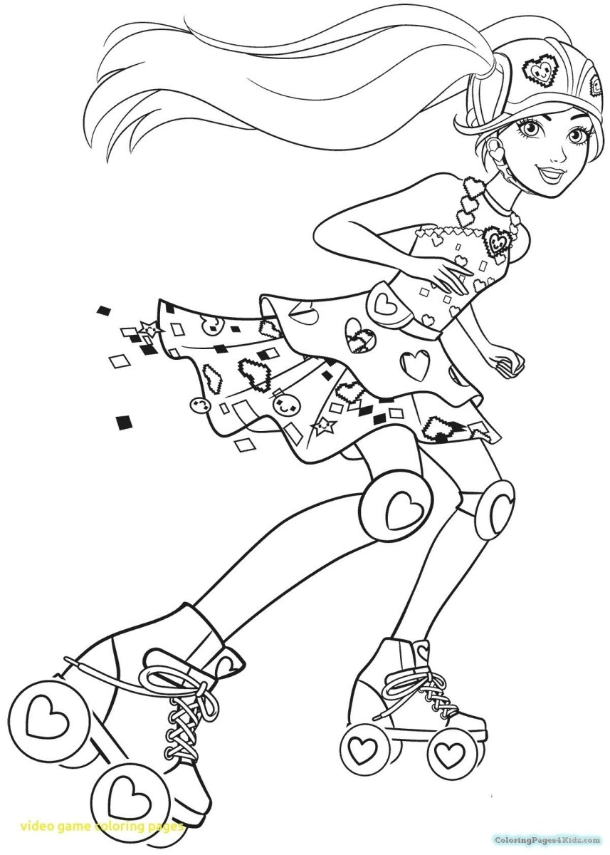 Coloring Pages Games Barbie Coloring Book Games Valid ...