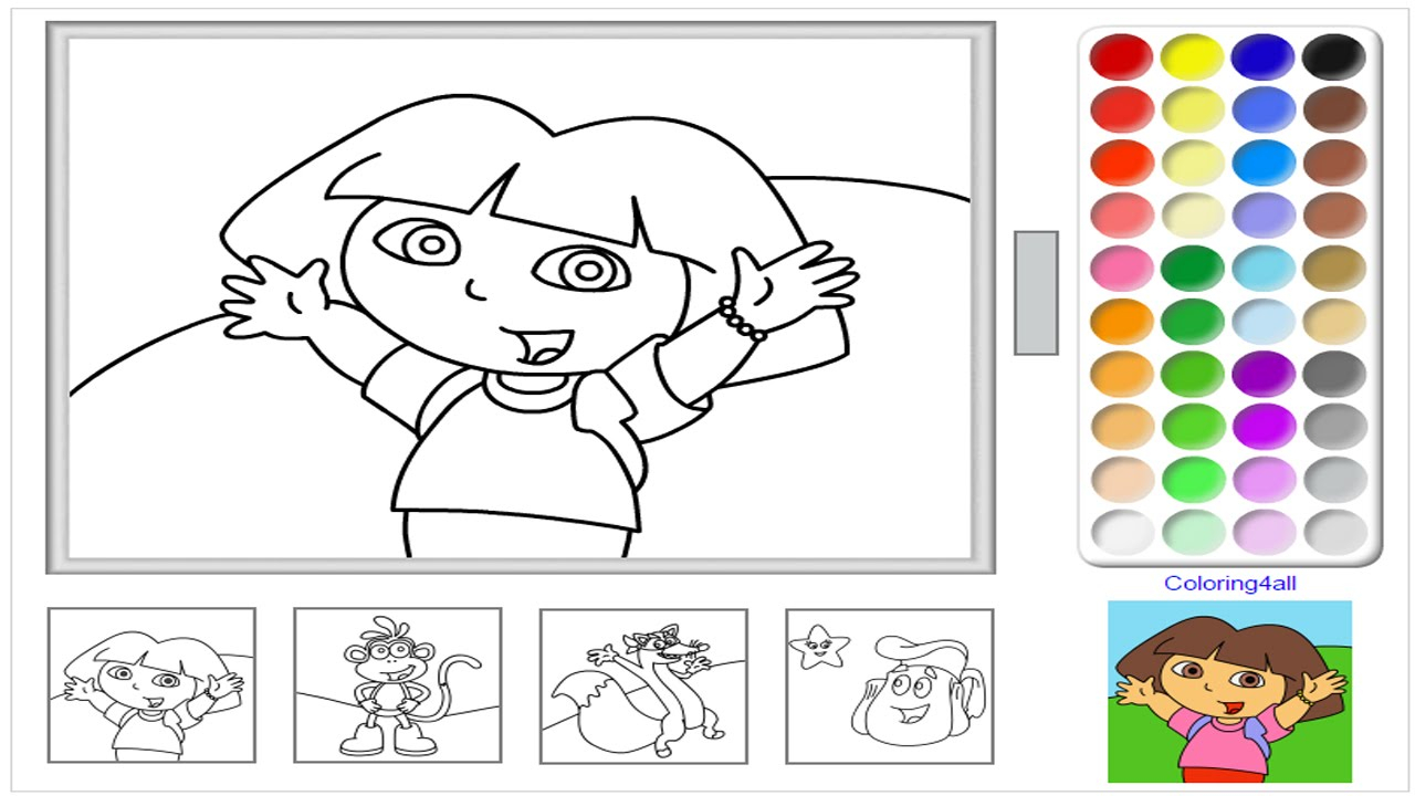 - Coloring Pages Games Dora The Explorer Online Coloring Pages Game