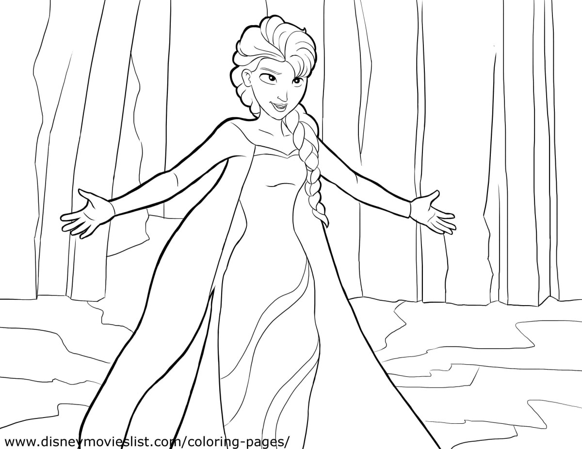 Coloring Pages Of Elsa Anna Frozen Coloring Pages Elsa And ...