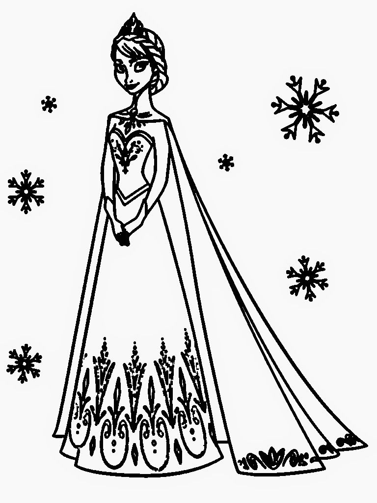 Coloring Pages Of Elsa Coloring Pages Elsa And Anna Free