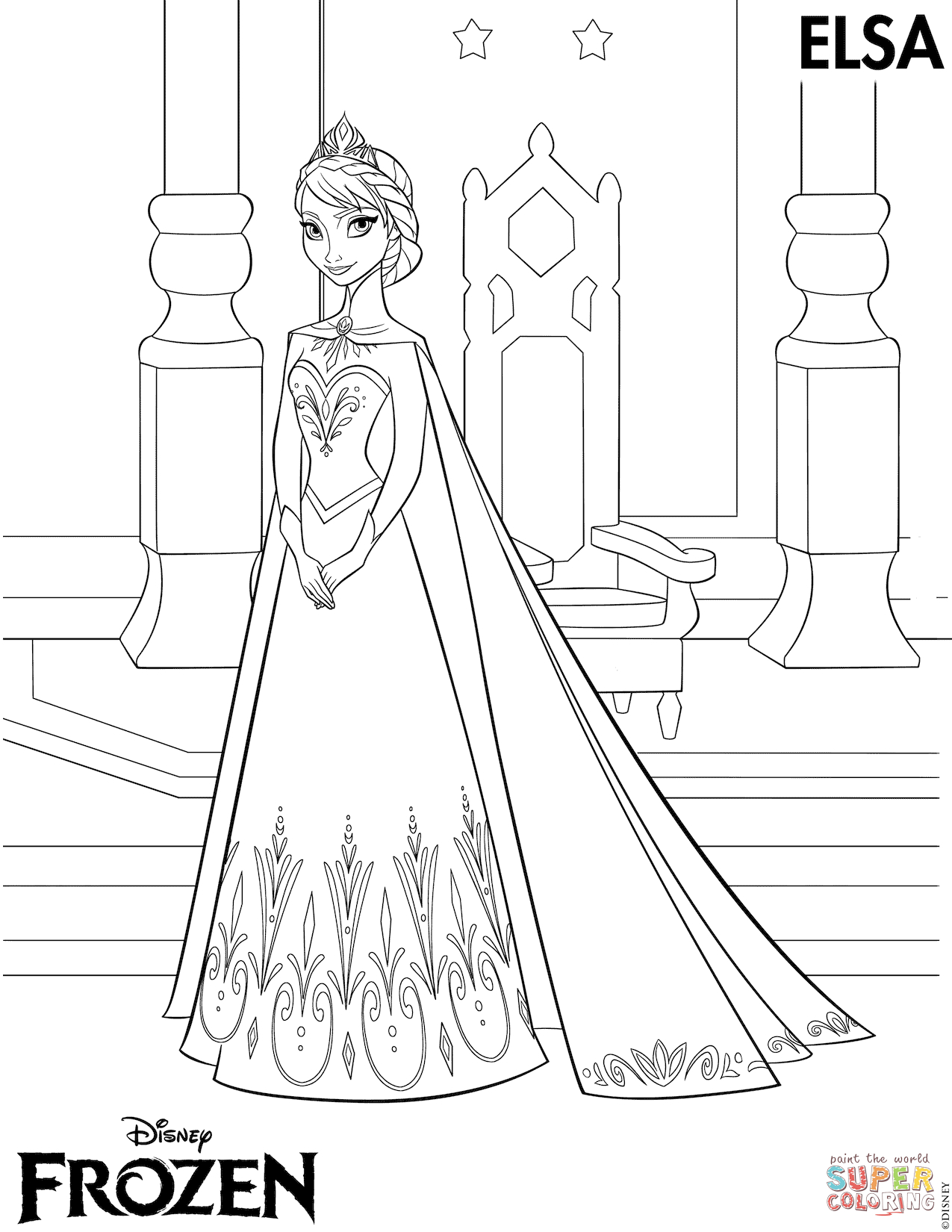 - Creative Image Of Coloring Pages Of Elsa - Birijus.com