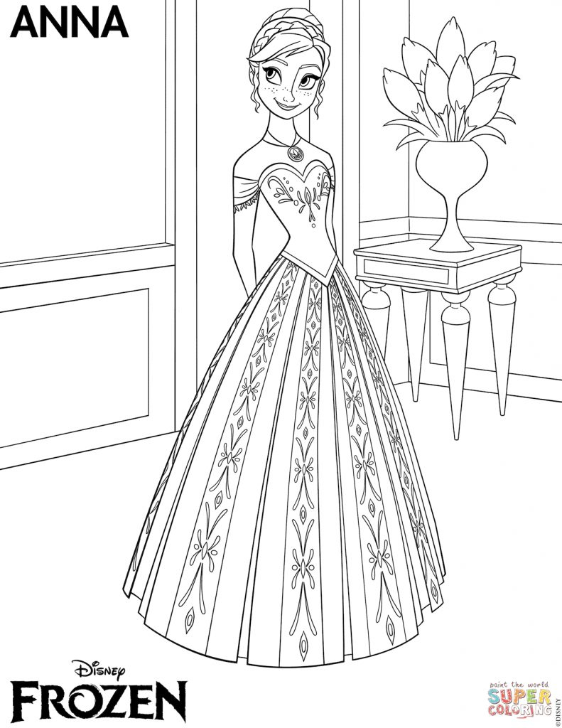 Coloring Pages Of Elsa The Frozen Coloring Pages Free Coloring