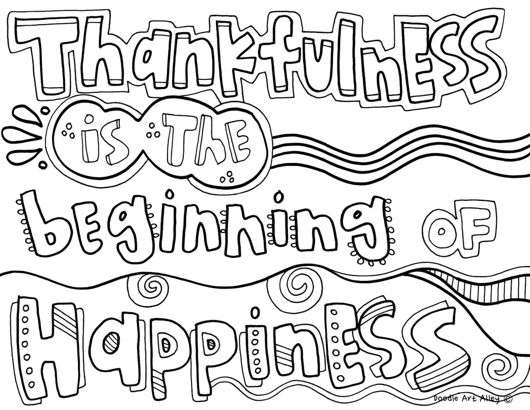 Coloring Pages Quotes Coloring Thankful Quotes Doodle Art Alley Birijus Com