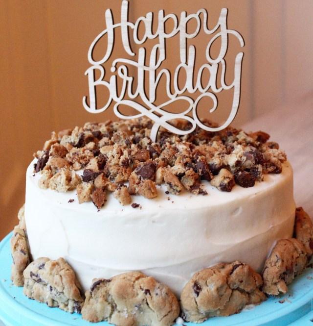 Cookie Birthday Cake Chocolate Chip Cookie Chocolate Birthday Cake Sevenlayercharlotte